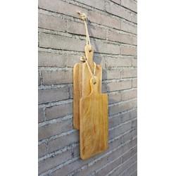 Set van 2 snijplanken / tapasplanken van mangohout - 35 x 15 cm