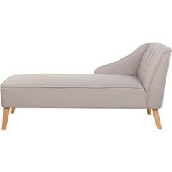 Chaise longue stof beige SEVIS