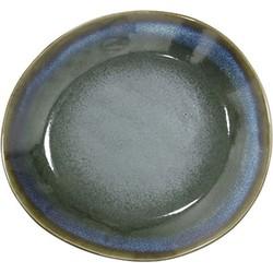 HKliving bord ontbijtbord keramiek moss seventies style Ø 22 cm