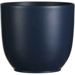 Mica Decorations tusca ronde pot blauw maat in cm: 18 x 19 BLAUW