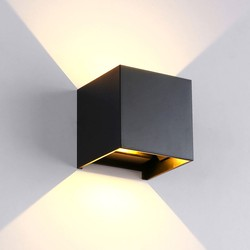 Groenovatie LED Wandlamp 7W Verstelbaar Warm Wit, Zwart