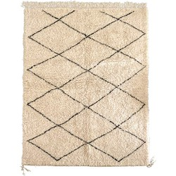 Poufs&Pillows Traditioneel Berber vloerkleed Beni Ourain - 200x125 cm - handgeknoopt