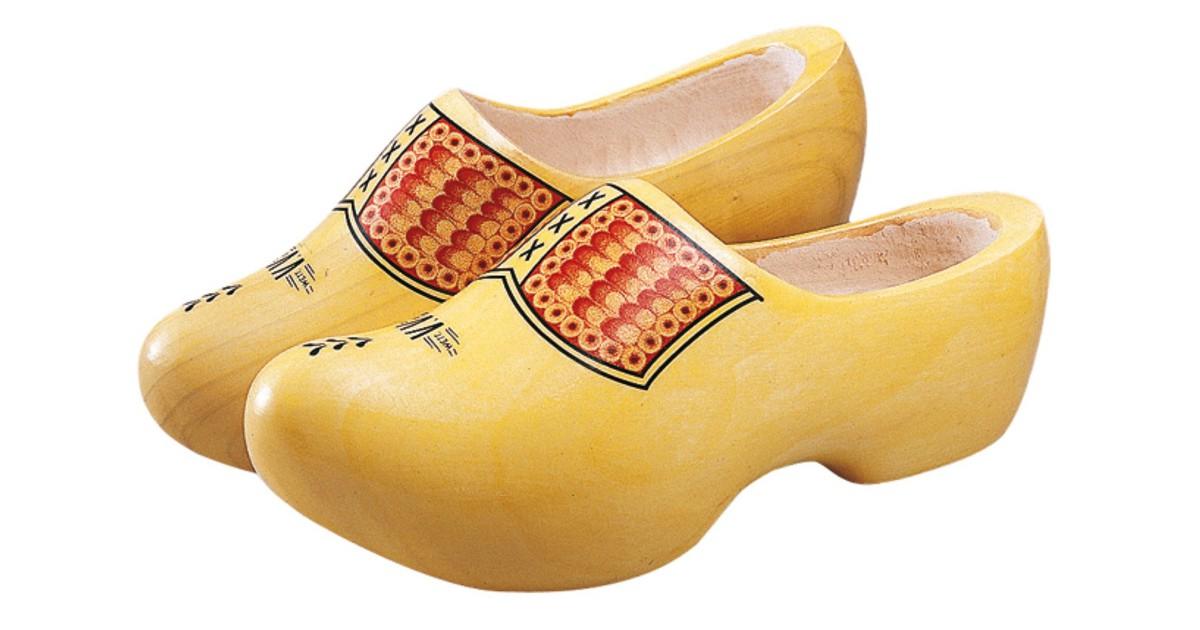 Houten klomp vv geel Schoenmaat 46-47