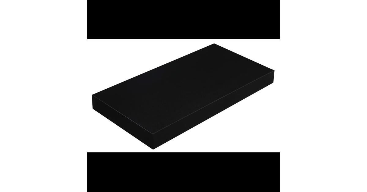 Nancy's Wandplank - Zwevende plank - Boekenplank - Wandmontage - Wandplankjes - 40 cm - Zwart