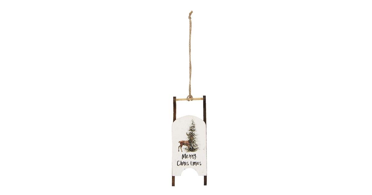 Clayre & Eef Decoratie Slee 14*3*5 cm Bruin Hout Decoratief Figuur Decoratieve Accessoires