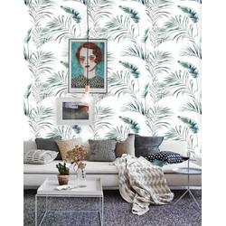 Zelfklevend behang Palmblad groen wit 8 122x275 cm