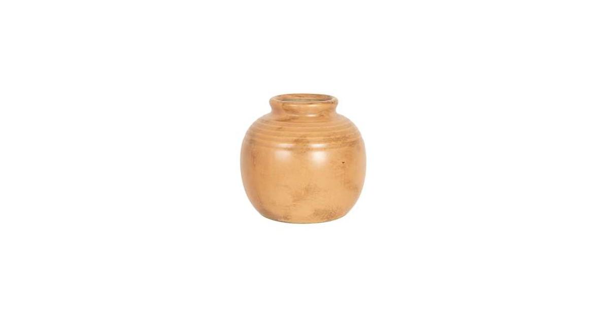 Clayre & Eef Vaas - Ø 8*8 cm - bruin - keramiek - rond -  - 6CE1210