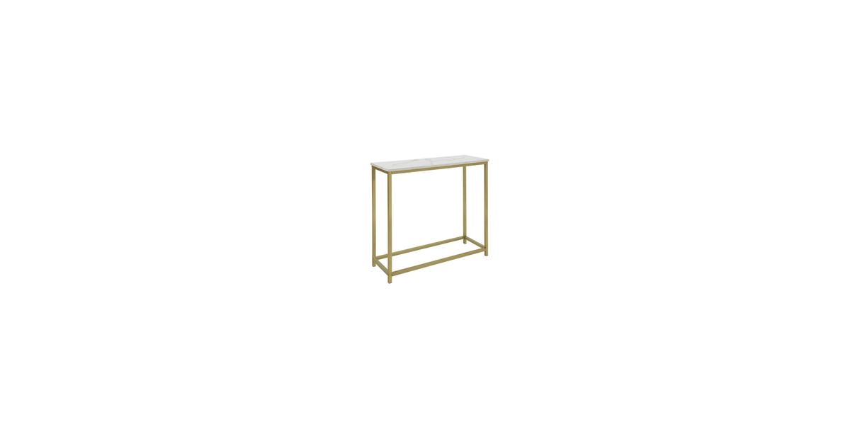 Simpletrade Dressoir - Console tafel - Marmer - Goud - 80x75x30 cm