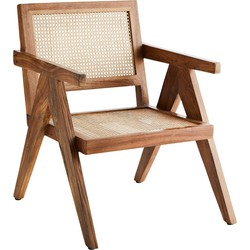 lounge stoel hout naturel 80 x 55 x 55