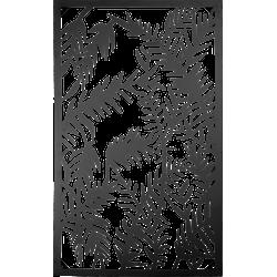 Wanddecoratie - 55*3*92 cm - meerkleurig - ijzer - rechthoekig - bladeren - Clayre & Eef - 5Y0686