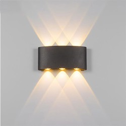 Groenovatie LED Wandlamp 6W Triple Warm Wit, Zwart