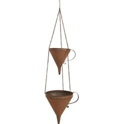 Clayre & Eef Plantenhanger Binnen 32*25*105 cm Bruin Ijzer Rond Hangpot