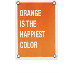 Tuinposter orange is the happiest color (70x100cm)