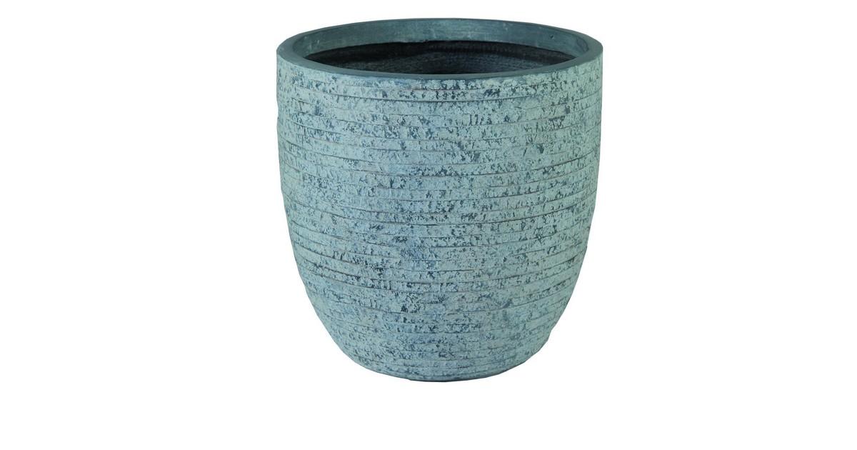 Utah Egg Pot Washed Grey D45H43