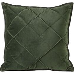 Light&Living Kussen Diamond olijf groen velvet 50 x 50