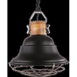 Hanglamp Goccia groot Mat Zwart + hout