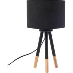 Tafellamp zwart TOBOL