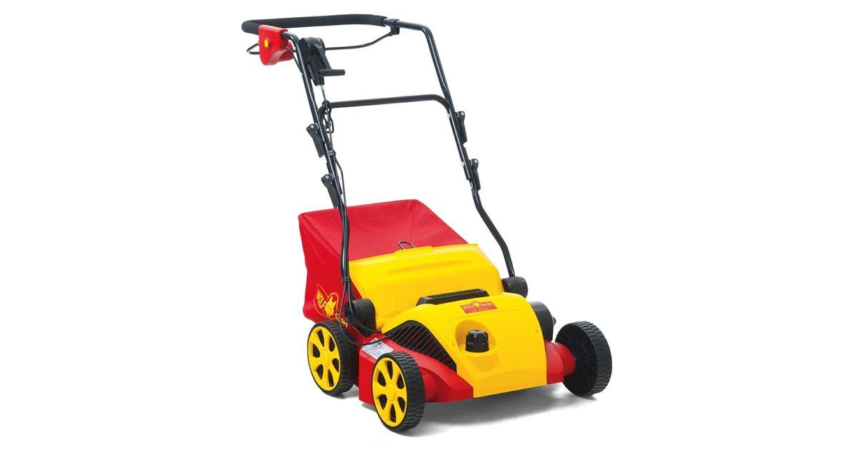WOLF-Garten Elektrische verticuteermachine VA 378 E werkbreedte 37 cm opvangzak 50 l 1800 W motor moshark verticuteren opvangen online kopen