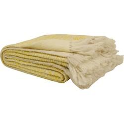 Imbarro Noor Plaid Wol 130 x 170 cm - Okergeel