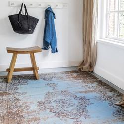 Vintage Vloerkleed  Bloom - Blauw/Grijs - EVA Interior - 120 x 170 cm - (S)