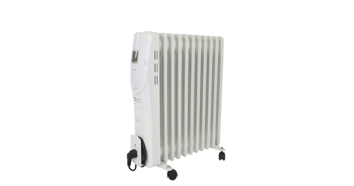 Perel Olieradiator - 2500 w - 11 ribben - lcd-display