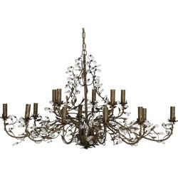 Hanglamp EVITA - Metaal Bruin - 15-Lichtpunten