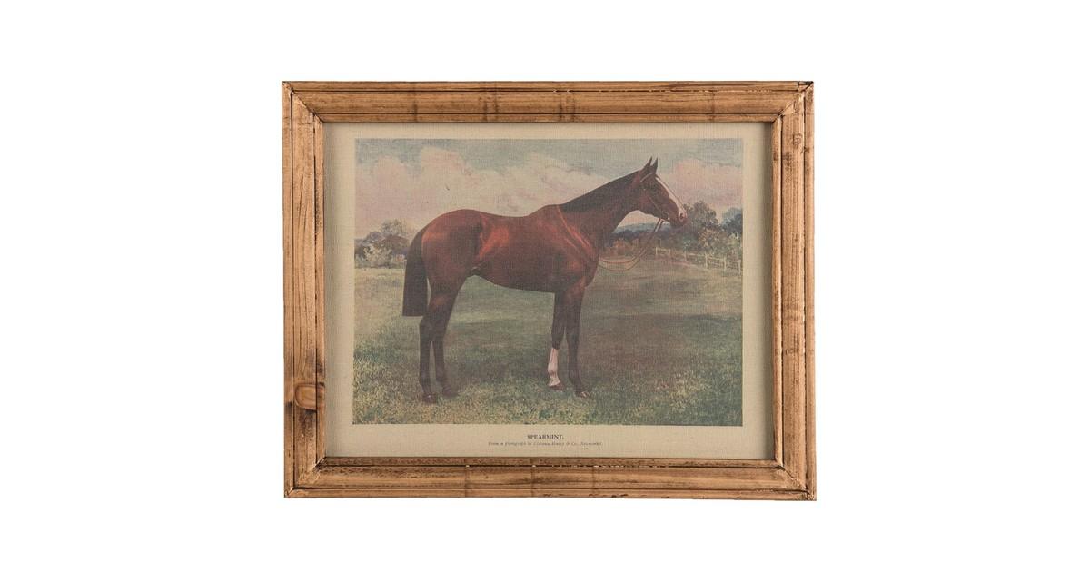 Schilderij | 46*2*36 cm | Bruin | Hout | Rechthoek | Paard | Clayre & Eef | 63868