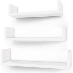 Nancy's Wandplank Set van 3 - Wandkasten - Kubusplank - Wandkastje - Wit