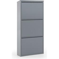 Kave Home - Schoenenrek Ode 50 x 103 cm 3 deuren grijs