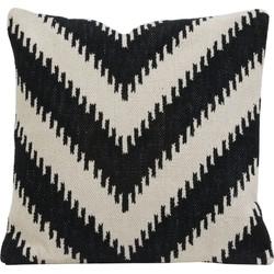Light&Living Kussen ARROCCA zwart wit 50 x 50