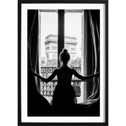Girl in Paris Poster (21x29,7cm)