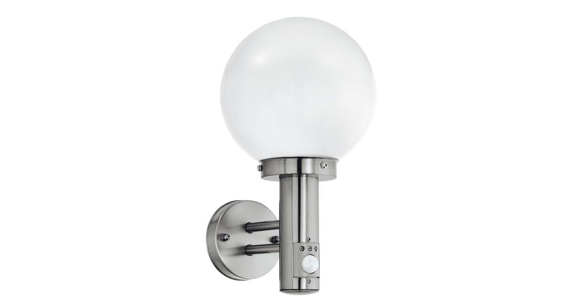 Eglo Nisia Buitenverlichting Wandlamp Met Sensor 1 Lichts RVS Wit online kopen