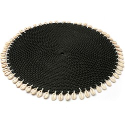 The Cowrie Placemat - Black