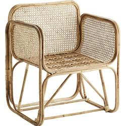 fauteuil bamboe naturel 82 x 69 x 56