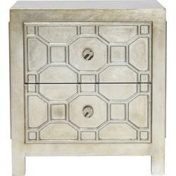 Kare Design Nachtkastje Alhambra - Hout - H65 X B58.5 X D37.5 Cm