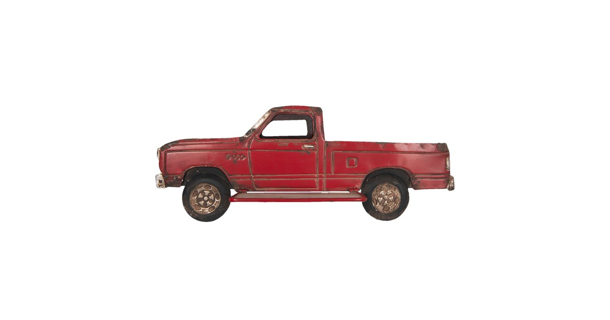 Wanddecoratie vrachtauto | 69*27*14 cm | Rood | Hout | Auto | Clayre & Eef | 5Y0516