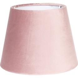 Lampenkap | Ø 31*22 cm | Roze | Textiel | Rond | Clayre & Eef | 6LAK0460P