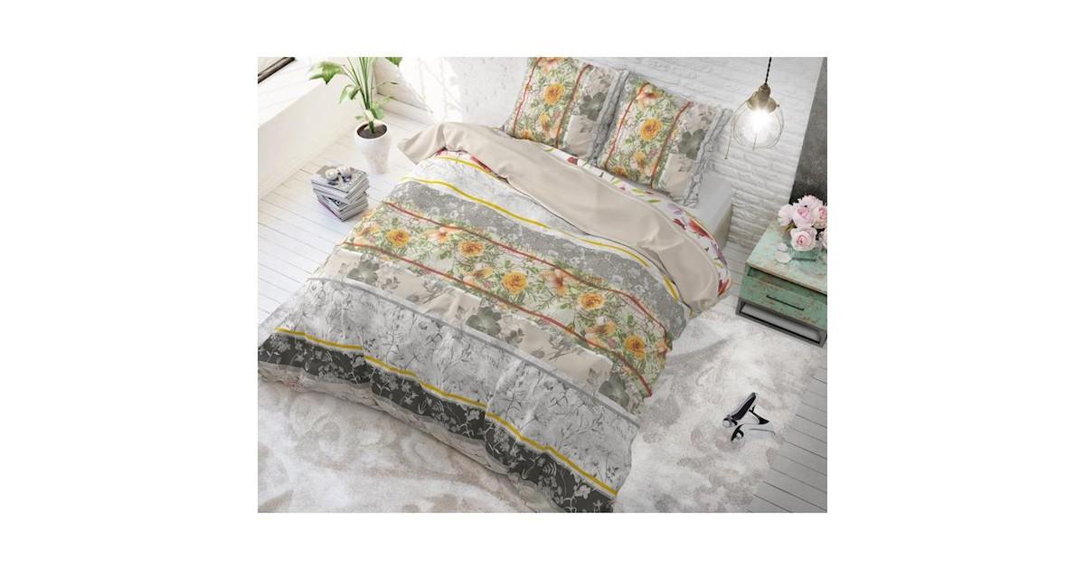 Sleeptime Dekbedovertrek Monica Taupe-Lits-jumeaux (240 x 200/220 cm)