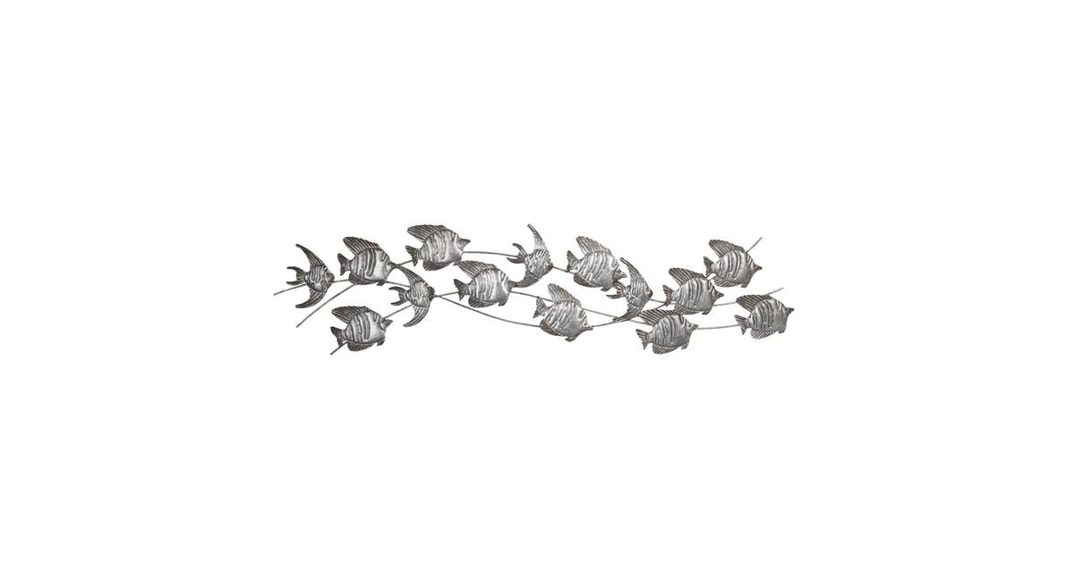 Wanddecoratie vissen | 118*1*32 cm | Grijs | Ijzer | Vissen | Clayre & Eef | 5Y0456