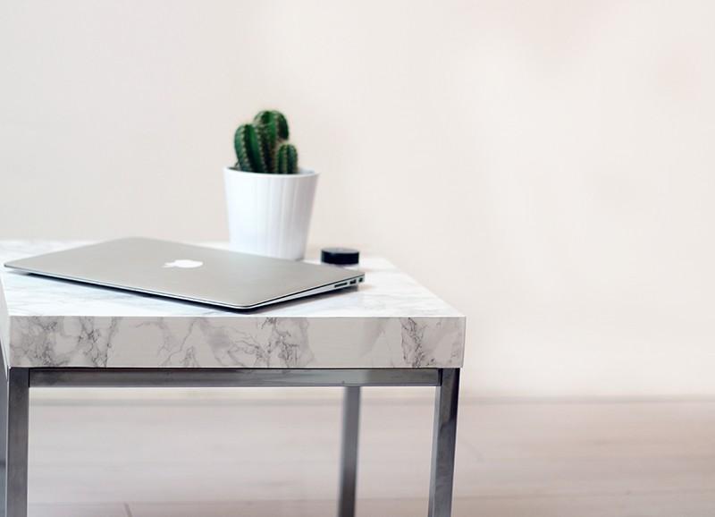 DIY marmeren tafel