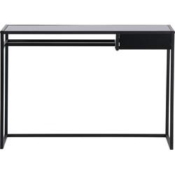 WOOOD Teun Bureau Met Lade - Metaal - Zwart - 110x76x50