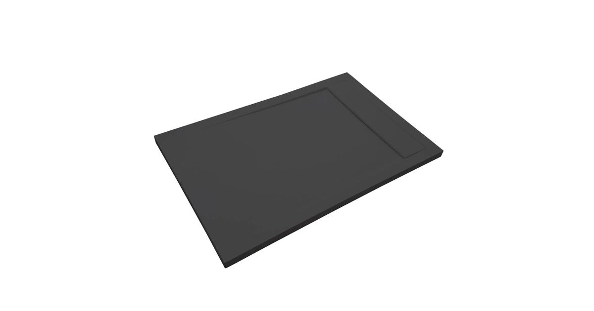 Composiet Light douchebak New York 80x140cm zwart