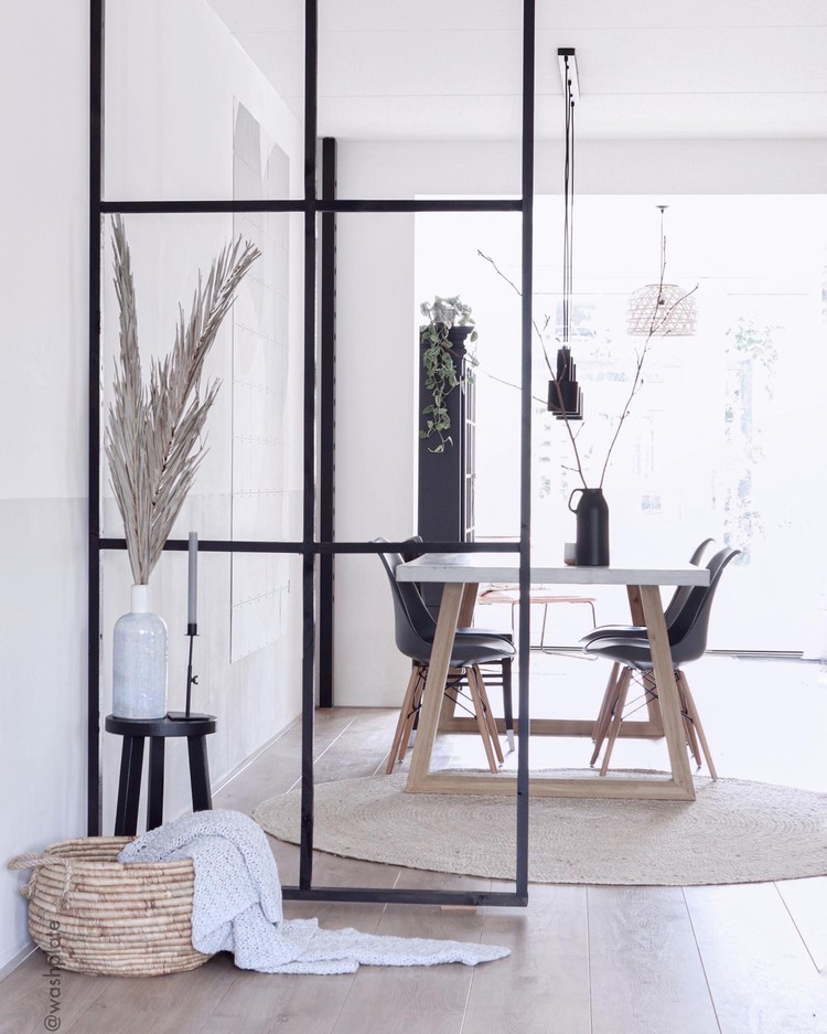 minimalistische eetkamer