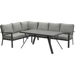 Garden Impressions Senja lounge dining set 3-delig links - donker grijs