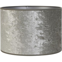 Lampenkap cilinder CHELSEA - 35-35-30cm - velours zilver