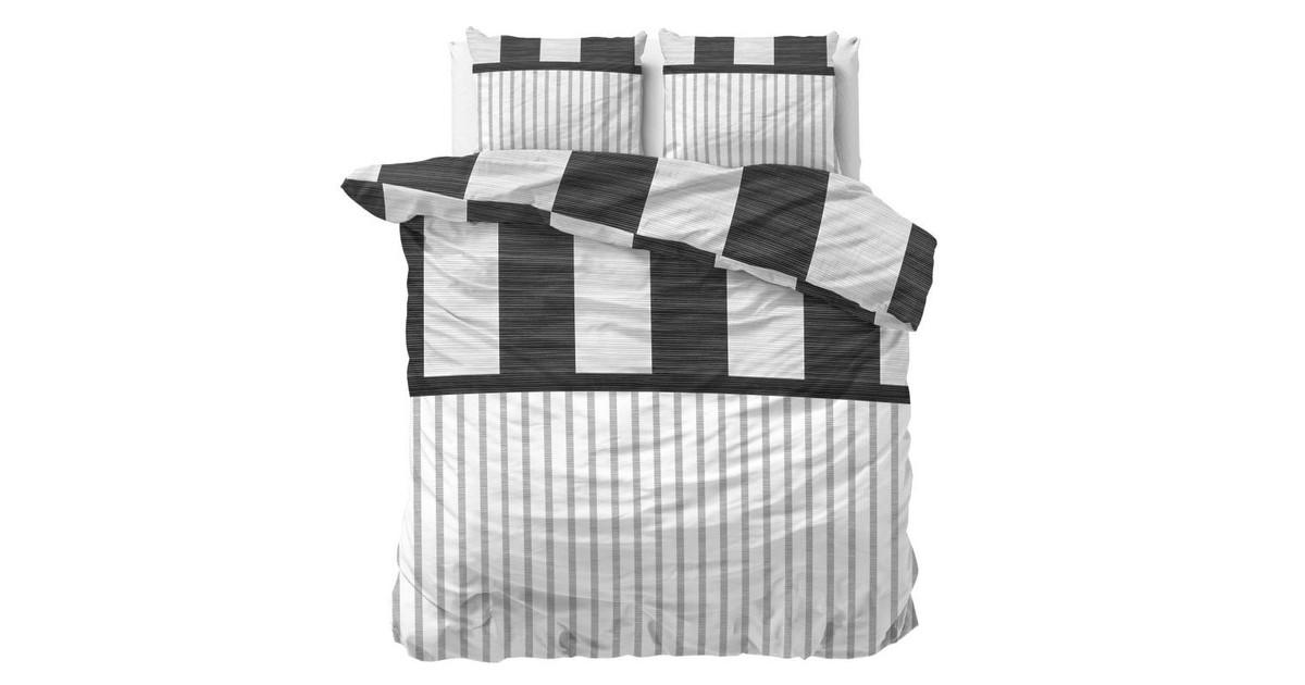 Sleeptime Dekbedovertrek Cleo Anthracite-Lits-jumeaux (240 x 200/220 cm)