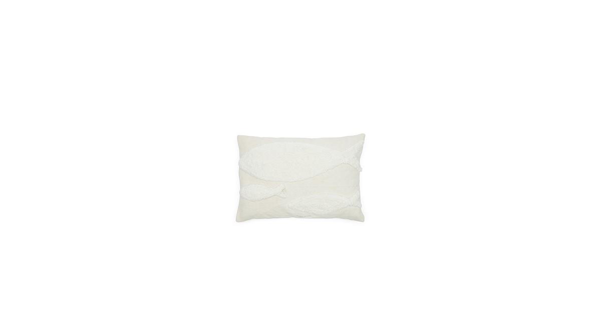 Riviera Maison Fancy Fish Pillow Cover Kussenhoes White 45.0 x 65.0 online kopen