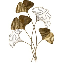BePureHome Leafage Wanddeco Metaal Antique Brass