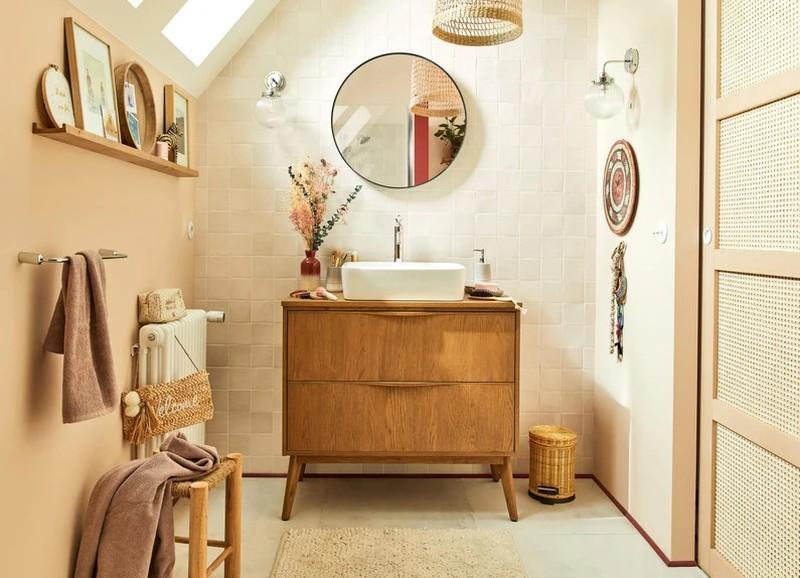 Shop the look: kleine Boheemse badkamer