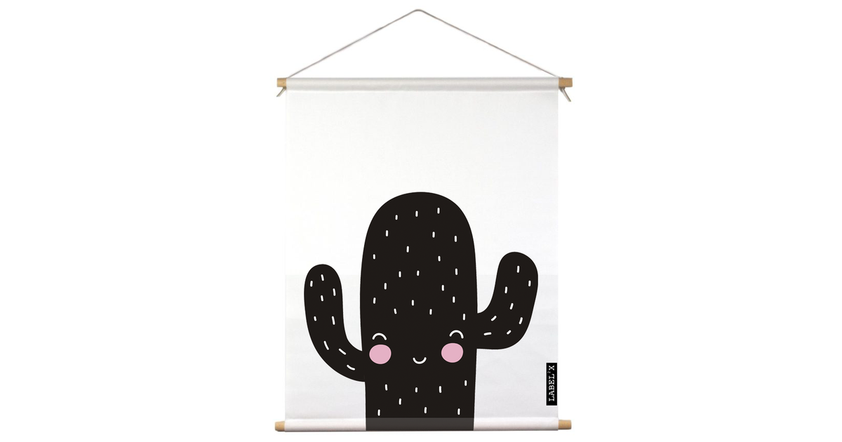 Textielposter kids cactus